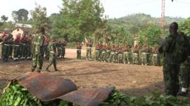 Soldiers in the Democratic Republic of the Congo