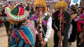 Bolivian farmers