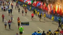 Blast at Boston Marathon finish line