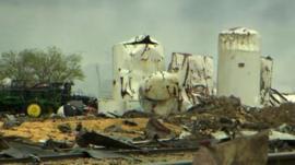 Damage caused by Waco fertilizer plant explosion