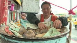Taipei stall owner