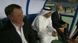 Fawaz Al Hasawi at football match