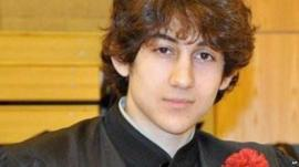 Dzhokhar Tsarnaev poses for a photo after graduating from Cambridge Rindge and Latin High School in undated photo
