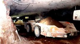 Inside a potash mine