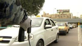 Bomb detectors in use in Baghdad in March 2013