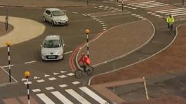 Cycle roundabout testing in Berkshire