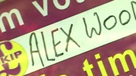 UKIP Alex Wood election poster
