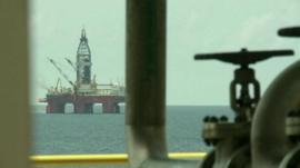 Oil rig off the coast of Ghana