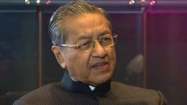 Former Malaysian Prime Minister Mahathir bin Mohammad