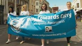 Anti-knife walk in Colchester