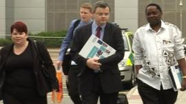 Inspectors arriving at Basildon University Hospital