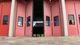 Fire station doors closing