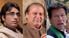 Bilawal Bhutto Zardari, Nawaz Sharif and Imran Khan