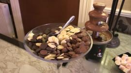 Hotel reception chocolate treats