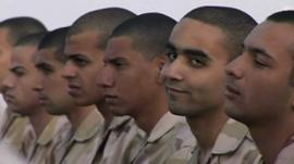 Egyptian army cadets