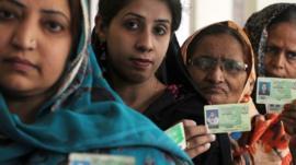 Women voters in Lahore