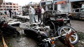 Debris in Reyhanli
