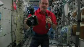 Commander Chris Hadfield with his camera
