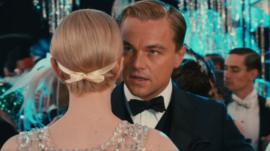 Carey Mulligan and Leonardo DiCaprio in The Great Gatsby
