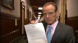BBC Chief Political Correspondent Norman Smith holds the private members bill on an EU amendment that will be introduced to parliament