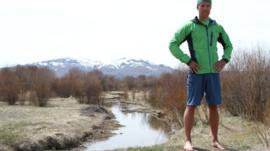 Barefoot running coach Eric Orton