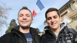 Vincent Autin and his partner Bruno could become the first same-sex couple to marry in France