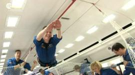Astronaut Tim Peake in training
