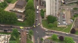 Aerial view of Woolwich incident
