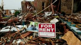 Aftermath of tornado in Joplin - 2011