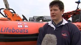 Southwold Lifeboat crewman Paul Barker