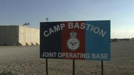 Camp Bastion sign