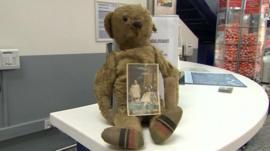 Glyn the 'lost' bear at Bristol Airport