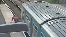 CCTV footage of the man at Crosskeys station