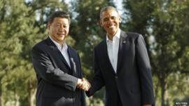 President Xi Jinping and President Obama