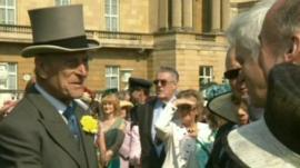 Prince Philip at a Buckingham Palace garden party