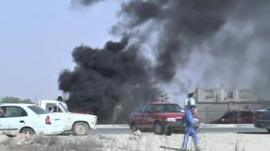 Scene of clashes in Benghazi