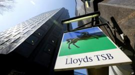 Sign over a branch of Lloyds TSB