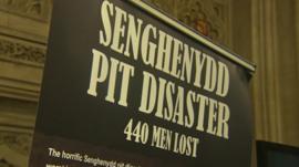 Senghenydd pit disaster banner