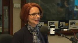 Julia Gillard during the interview