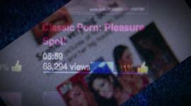 Blurred out pornography website
