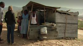 A house the slum city outside Port au Prince
