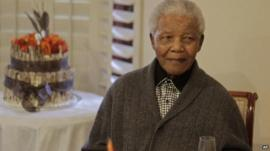 Nelson Mandela on his 94th birthday, July 2012