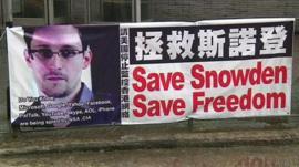 'Save Snowden' poster