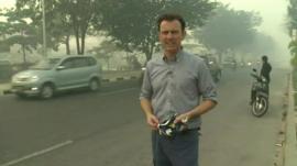 Rupert Wingfield-Hayes in Pekanbaru