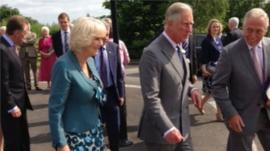 The Prince of Wales and the Duchess of Cornwall in Caledon