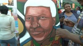 Painting of Nelson Mandela
