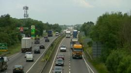 A14 road between Huntingdon and Cambridge is among the large infrastructure projects planned
