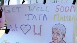 Get well message for Nelson Mandela