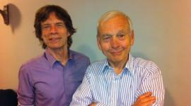 Mick Jagger and John Humphrys