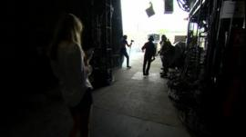 Backstage at Glastonbury's Pyramid Stage